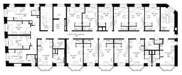 second (typical) floor plan