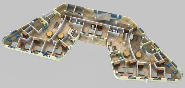 Apartment Interior Rendering_1 (Design credit- Shreejika Shrestha)