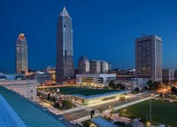 Cleveland Civic Core (Burnham Mall, Cleveland Convention Center, and Global Center for Health Innovation)