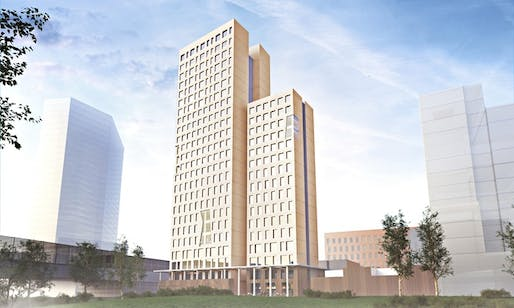 A rendering of the proposed tower. Credit: Rüdiger Lainer and Partner via the Guardian