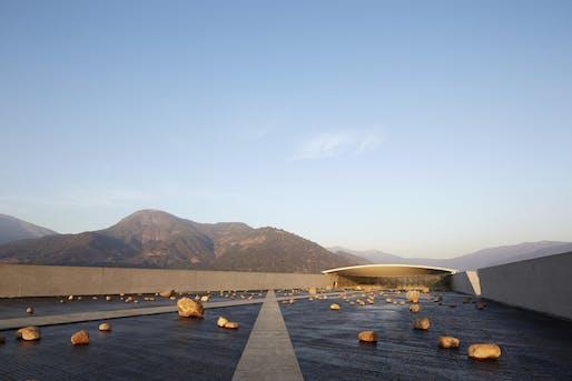 VIK Wine Cellar by Smiljan Radic, located in San Vicente, Chile. Image: Cristobal Palma.