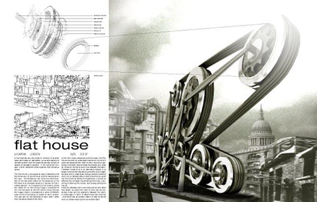 Special Mention/Alternative Typology: Flat House, Matt Fajkus, Brandon Hubbard, Bo Yoon, USA