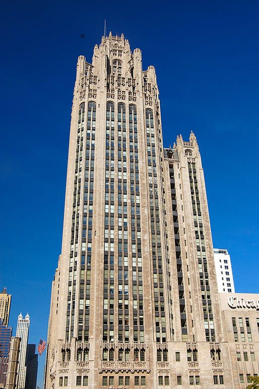 Chicago's original Tribune Tower. Image: Wikipedia