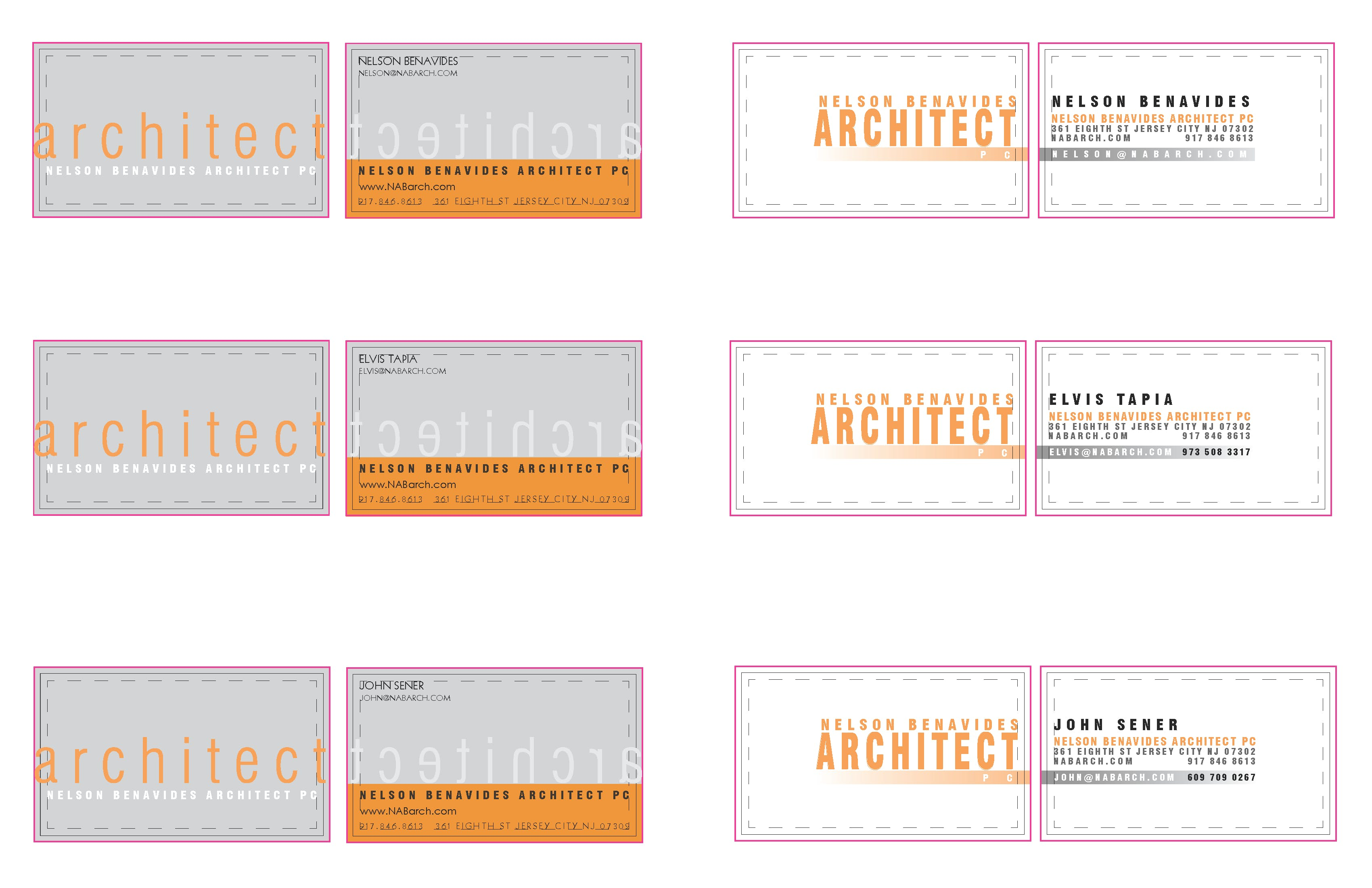 Benavides business cards john sener archinect benavides business cards reheart
