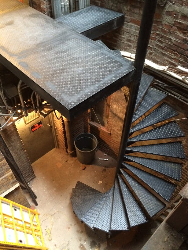 WIP spiral stairs for staff