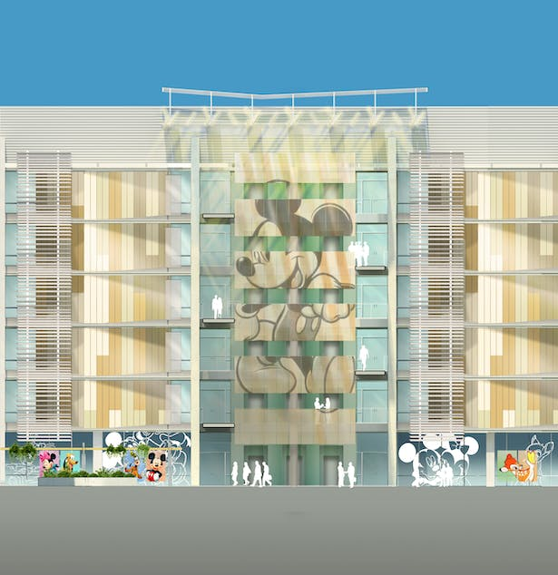 Schematic rendering of central stair.