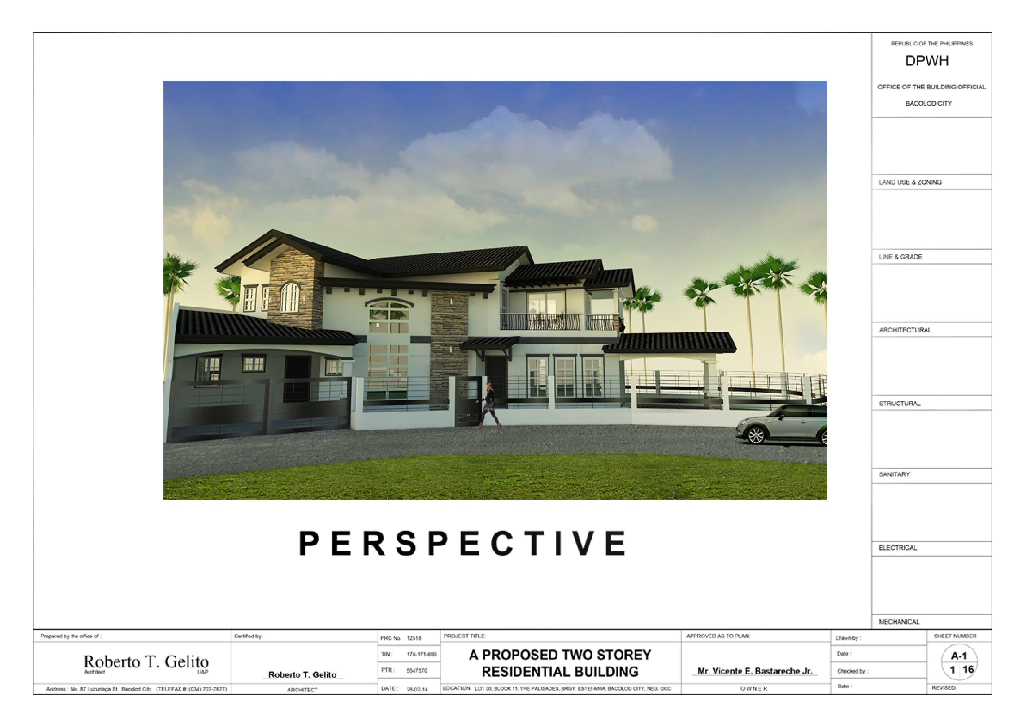 A Proposed Two Storey Spanish Mediterranean Residential