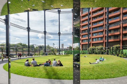 Gasholder Park by Bell Philips Architects. Photo: John Sturrock.