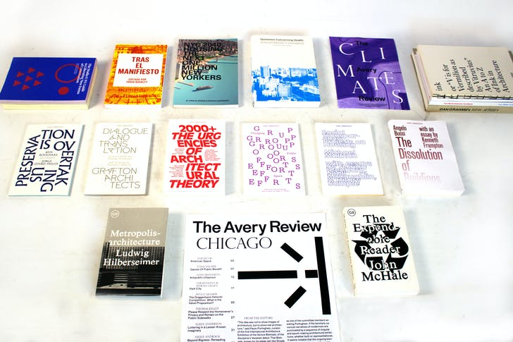 Recent and forthcoming publications by Columbia Books on Architecture and the City & The Avery Review. Image courtesy of Columbia GSAPP.