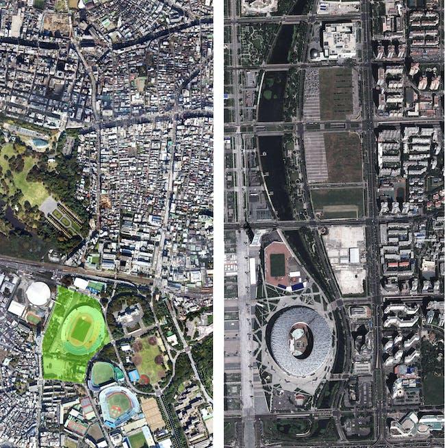 tokyo stadium vs beijing stadium