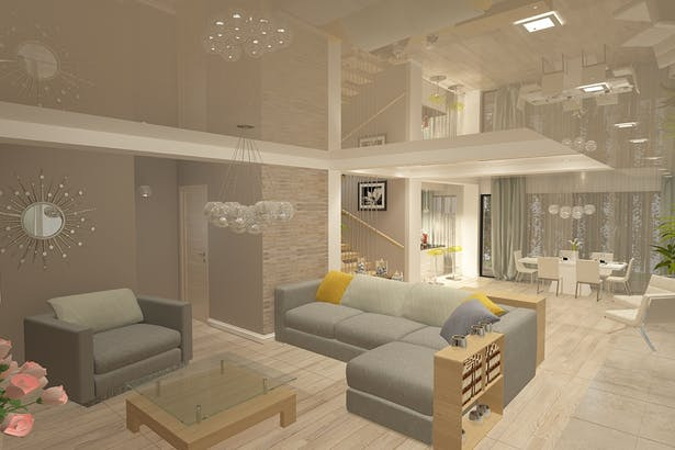 Design interior living casa moderna amenajari interioare for Design interior case