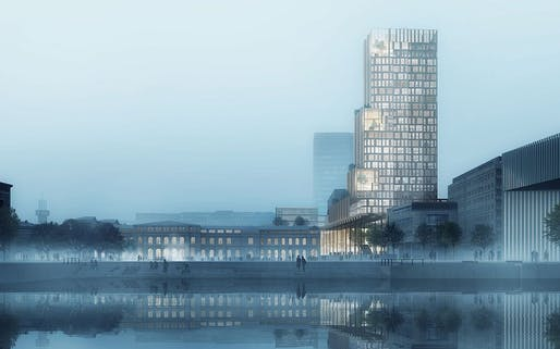 'Nordic Light', Olso tower competition winner, by Reiulf Ramstad Arkitekter and C.F. Møller Architects. Image: C.F. Møller Architects.