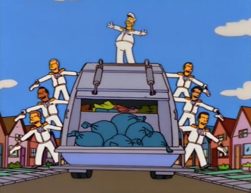 Homer the Garbage Man from 'Trash of the Titans'. Image via neogaf.com.