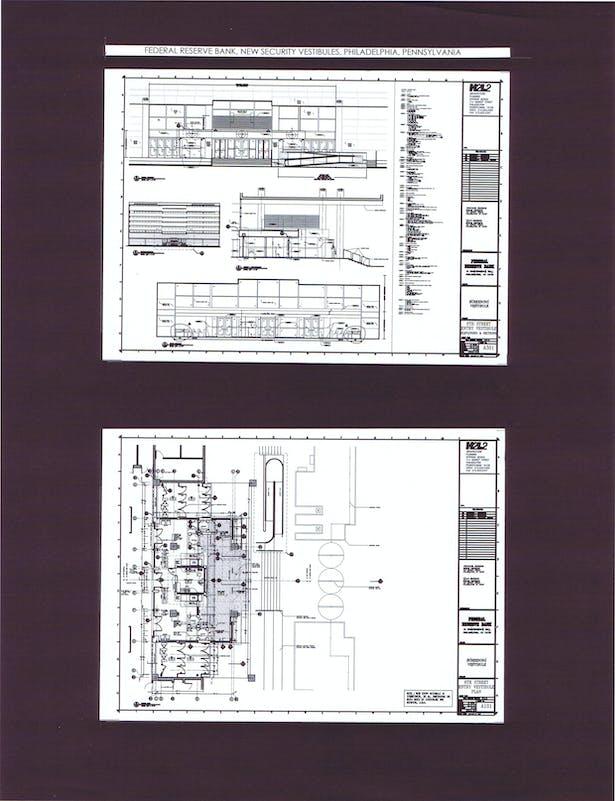 6th Street Entry Vestibule, Elevation, Section, Floor Plan