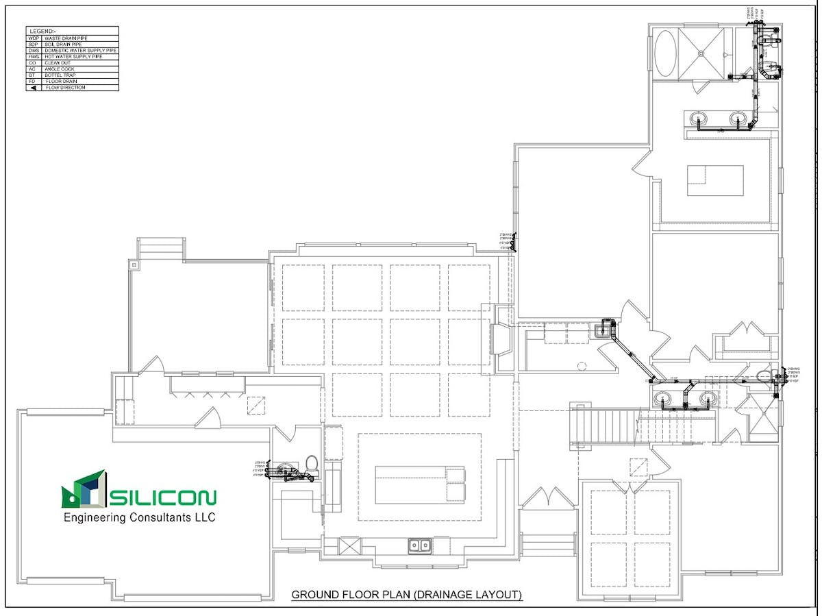 Plumbing Piping Cost Estimation Outsourcing Work Silicon Layout Calculation Consultant Llc Archinect