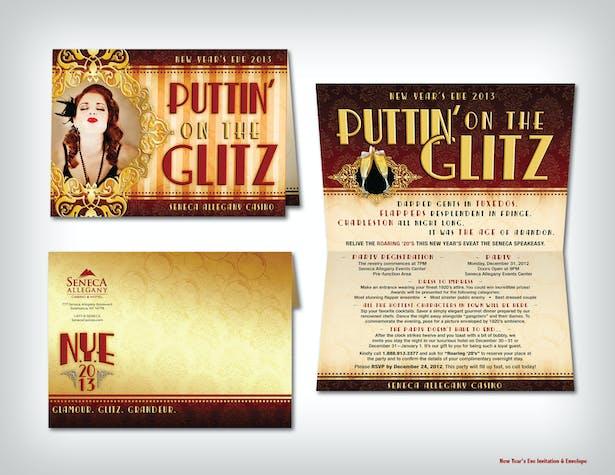 New Year's Eve Invitation & Envelope