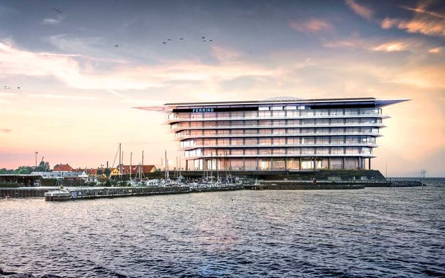 Rendering of the Foster + Partners-designed HQ for Ferring Pharmaceuticals, which just broke ground in Copenhagen. (Image via fosterandpartners.com)