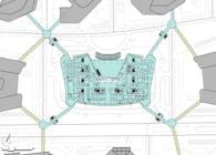 The New International Medical Center - Skybridge Plan