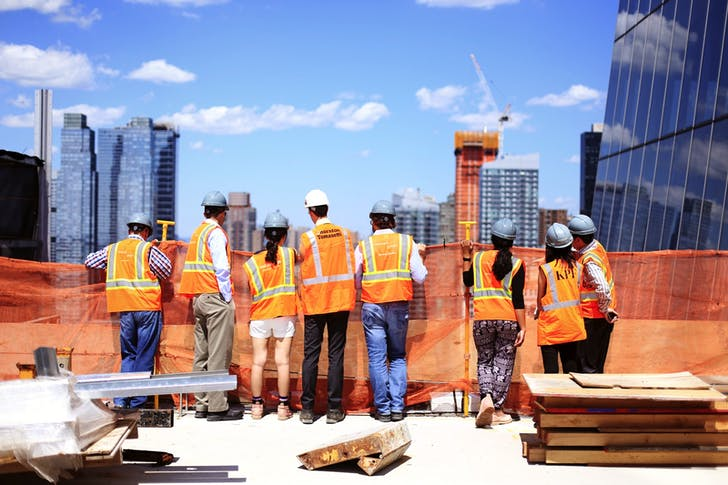 Hudson Yards Team On Site Meeting. © Justin Whiteford.
