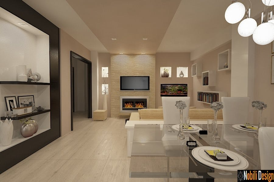 Design interior apartament modern amenajari interioare for Dizain case interior