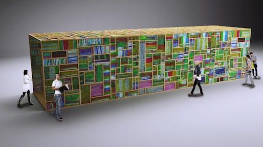 Colored Pavilion: Christophe Cormy, Marilyn Donat, Martine Nicoletti, Edouard Saussac - On Ground Studio: Paris, FR