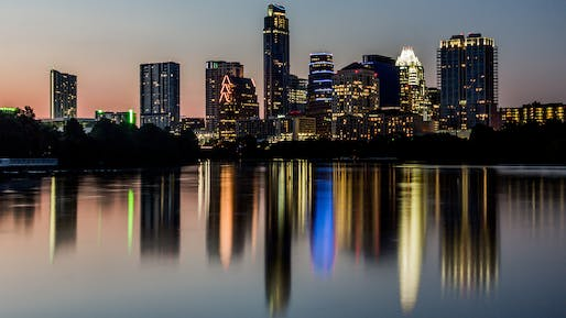 The Austin skyline, via wikimedia.org