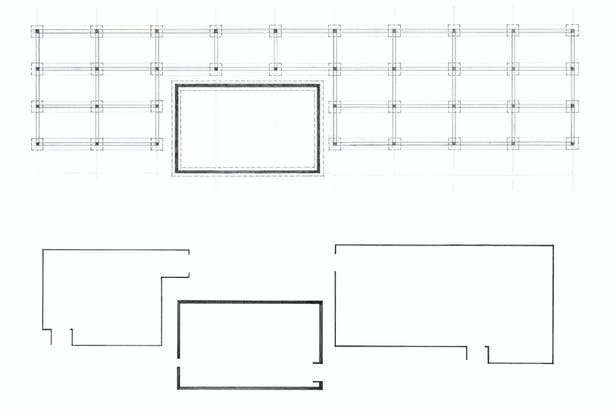 Structural grid and building enclosures