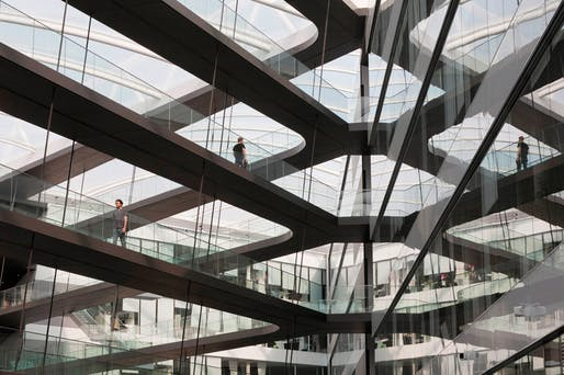 Atrium shot of adidas Laces, the new research and development building in Herzogenaurach, Germany (Photo: Werner Huthmacher)