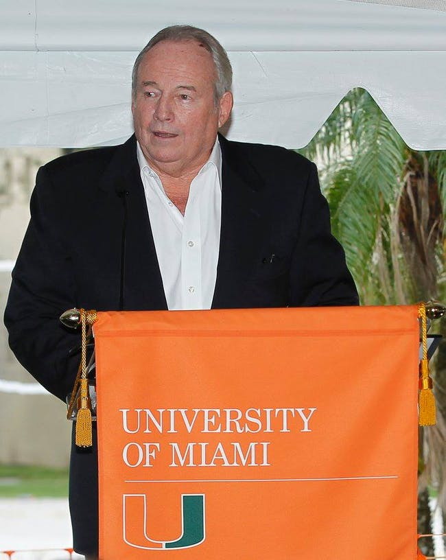 Thomas P Murphy speaks at the groundbreaking ceremony