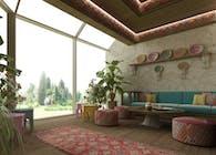 Exploring Luxurious Homes : Exterior Majlis Room Design