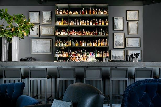 Hotel lobby and bar