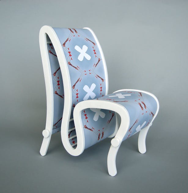 The patterned chair.