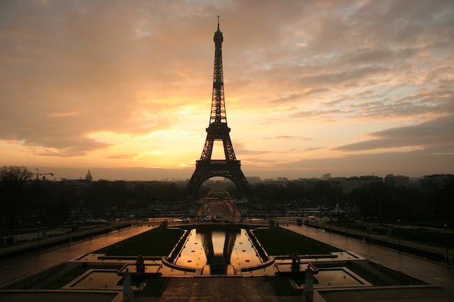 Two wind turbines were just installed in the Eiffel Tower. Credit: Wikipedia