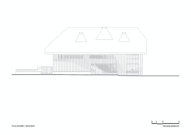 ELEVATION: Northeast façade