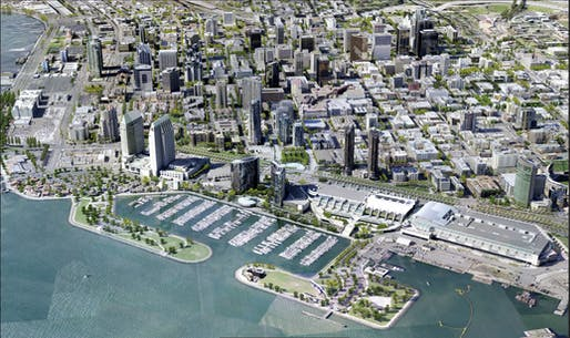 A CityEngine rendering of San Diego. Image courtesy of Nadia Amoroso.