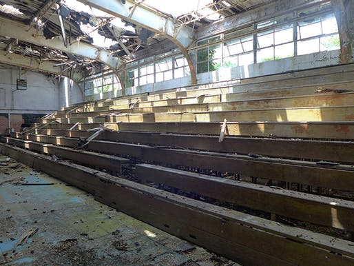 View of the gymnasium at the old Sabine High School in Many, Louisiana, one of several facilities that could be impacted by the study.Photo courtesy of Laura Blokker.