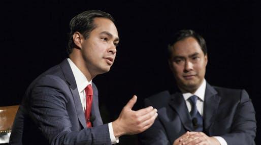 Presidential contender Julián Castro and his twin brother, Texas congressional representative Joaquin, Image courtesy Wikimedia user Lauren Gerson.