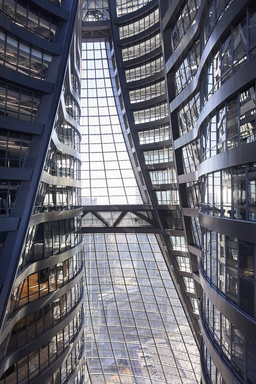 "<a href =""https://archinect.com/news/article/150171178/first-photos-of-zaha-hadid-architects-newly-opened-leeza-soho-tower-and-the-world-s-tallest-atrium"">Leeza SOHO Tower</a> by ZHA. Photo © Hufton+Crow"