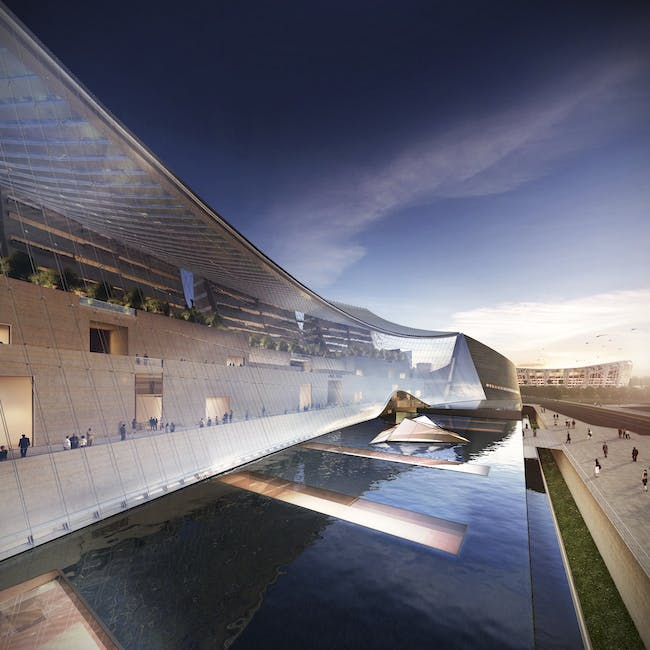National Art Museum of China. Courtesy of Safdie Architects.