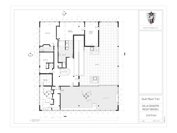 Villa Savoye Revit Model Quan Nyen Tran Archinect