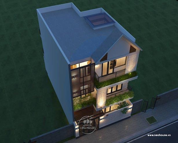Thiết kế biệt thự hiện đại 3 tầng. Ảnh 1