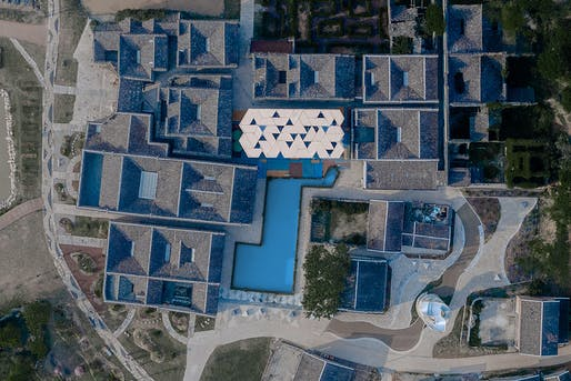 Aerial view of the restored Dafang village in China. All images courtesy of NEXT architects.