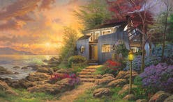 Architect shares wonderfully Photoshopped Thomas Kinkade and Modernism mashups on Twitter