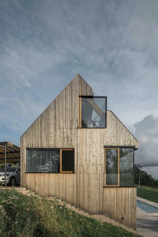 House in Krkonoše, Czech Republic by Fránek Architects; Photo: Petr Polák