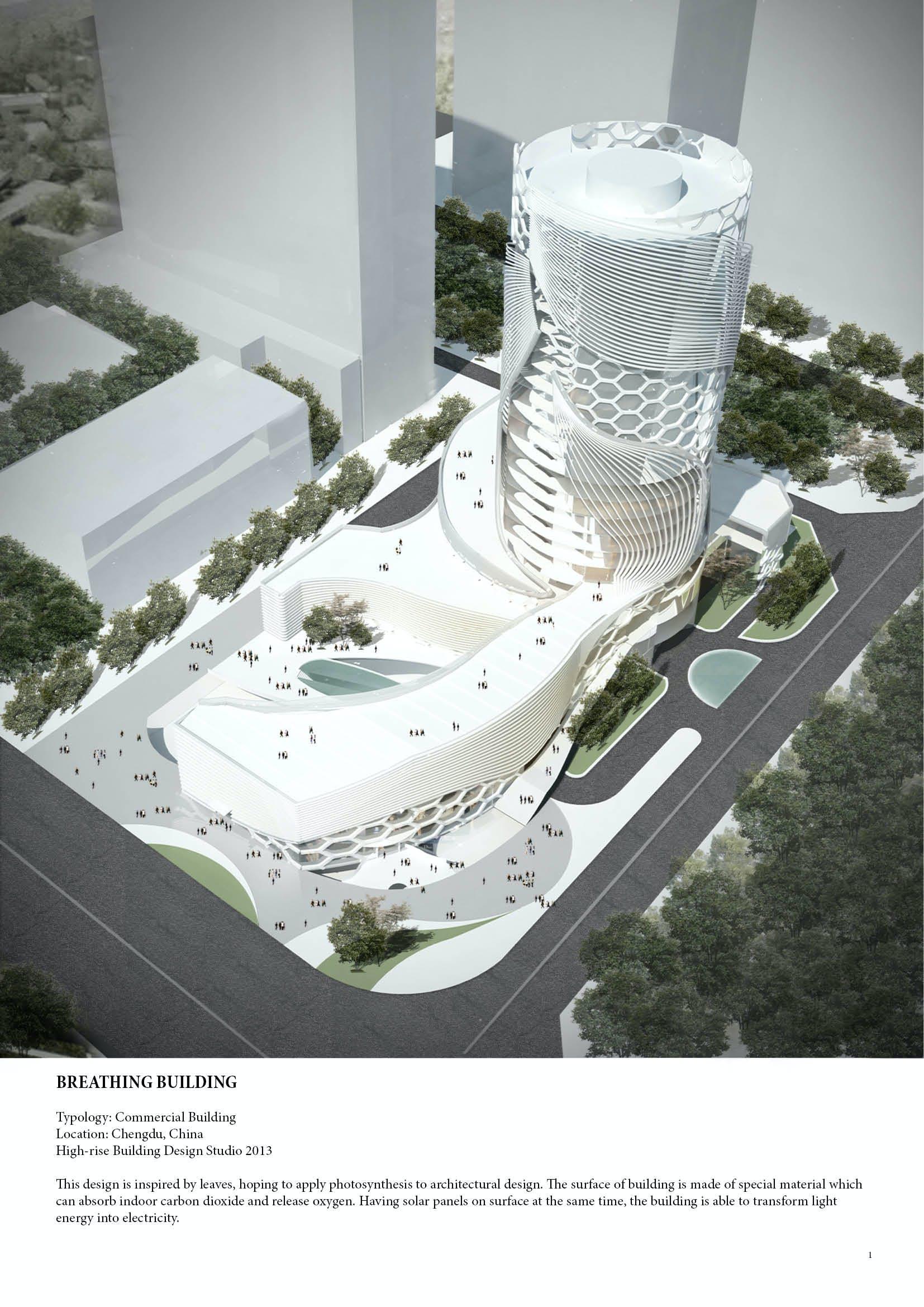 Breathing Building High Rise Building Design Studio 2013