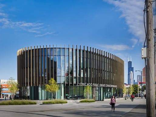 Chicago Public Library, Chinatown Branch; Chicago by Skidmore, Owings & Merrill LLP. Photo: Jon Miller   Hedrich Blessing.