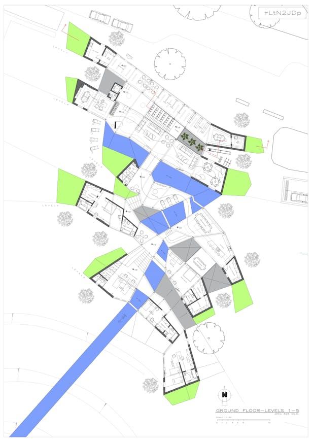 Ground Floor Plan / levels 1-5