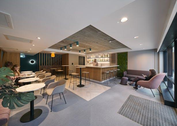 Ground floor bar and social space