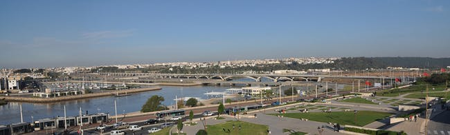 Rabat-Salé Urban Infrastructure Project: General view of the bridge. AKAA / Marc Mimram