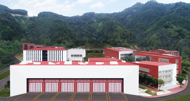 Fire Station; the virtual gate to the complex Credits: West-line Studio